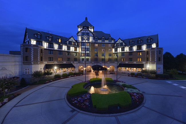 Hotel Roanoke with conference center wing. Photo courtesy of Hotel Roanoke