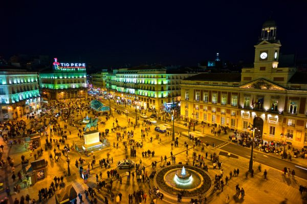 Puerta del Sol in Madrid. Photo by Wikimedia Commons