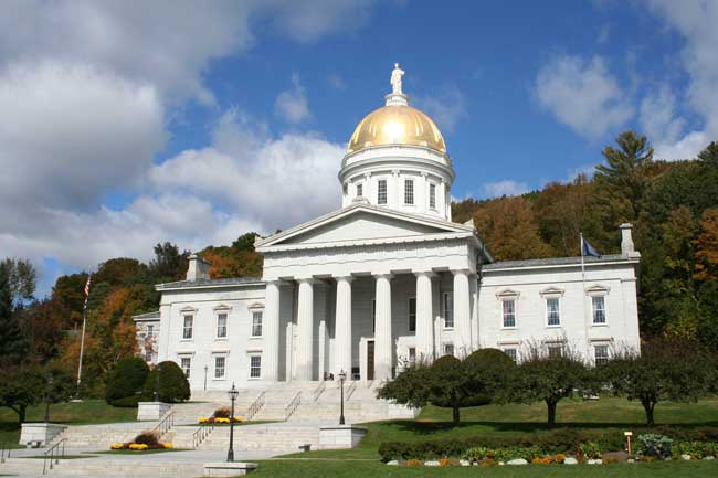 Vermont Statehouse in Montpelier. Photo by Vermont Tourism