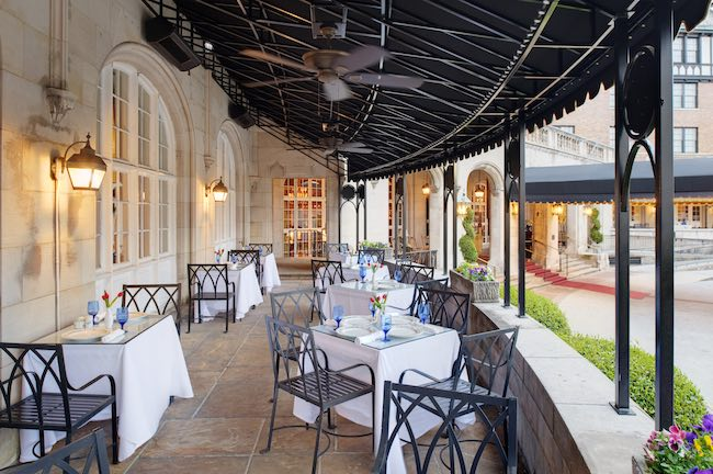 Patio dining at Regency Room. Photo courtesy of Hotel Roanoke