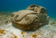 """Best unusual museums - """"Thing Blue,"""" an exhibit at Museo Subacuatico de Arte near Cancun, Mexico. Photo by Jason de Caires Taylor"""