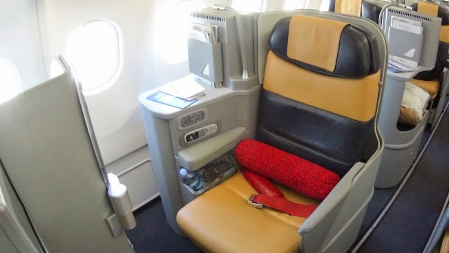 Alitalia business class seat
