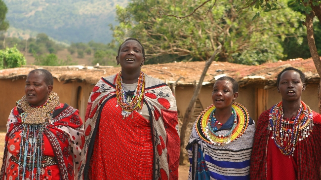 Maasai Women Sing to Me During my Safari in Kenya