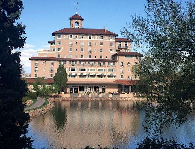 Side of The Broadmoor's main building overlooking the lake. Photo by Claudia Carbone