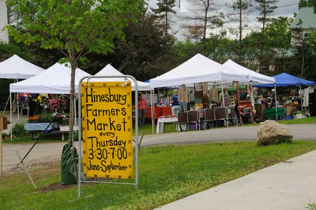 Farmers markets are popular in Vermont. Photo by Vermont Tourism