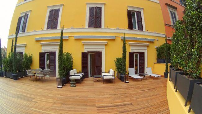 Hotel Eden Rome terrace