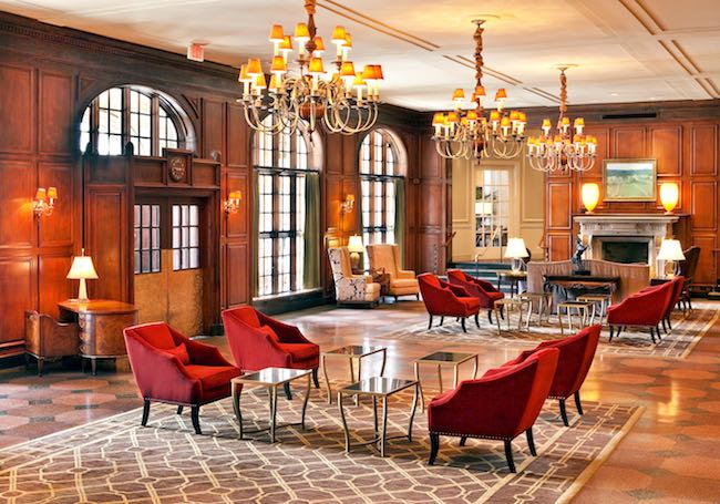 Lobby of Hotel Roanoke. Photo courtesy of Hotel Roanoke