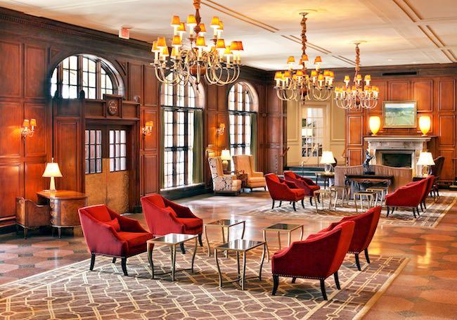 Lobby of Hotel Roanoke. Photo courtesy of Hotel Roanoke