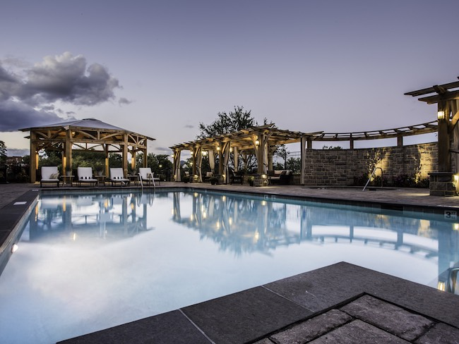 Pool and deck at Hotel Roanoke. Photo courtesy of Hotel Roanoke