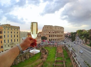 Champagne in Rome