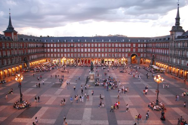 Madrid's Plaza Mayor. Photo by Wikimedia Commons