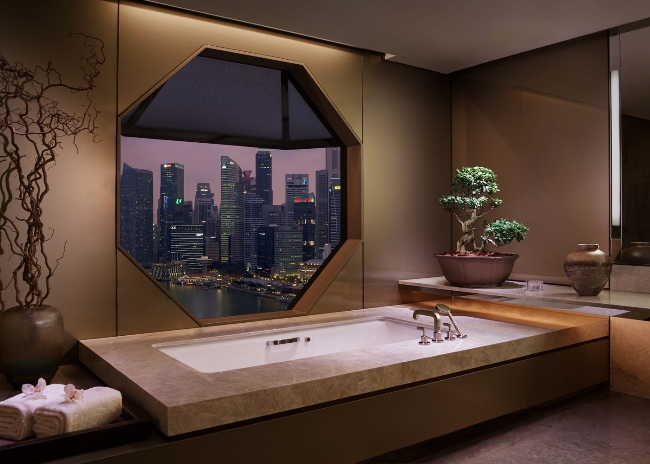 Bathtub at Ritz-Carlton Singapore
