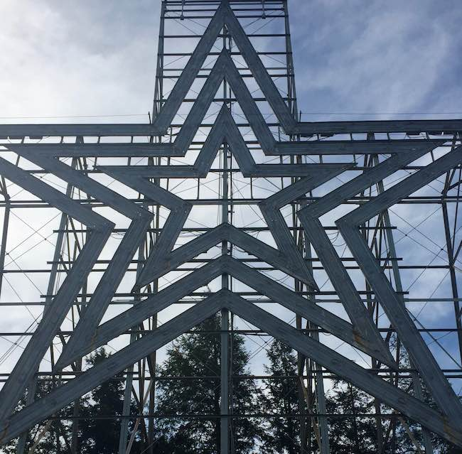 Roanoke Star on Mill Mountain overlooking the city. Photo by Claudia Carbone