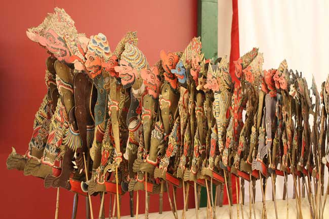 A row of shadow puppets in Indonesia. Flickr/Alyson Hurt