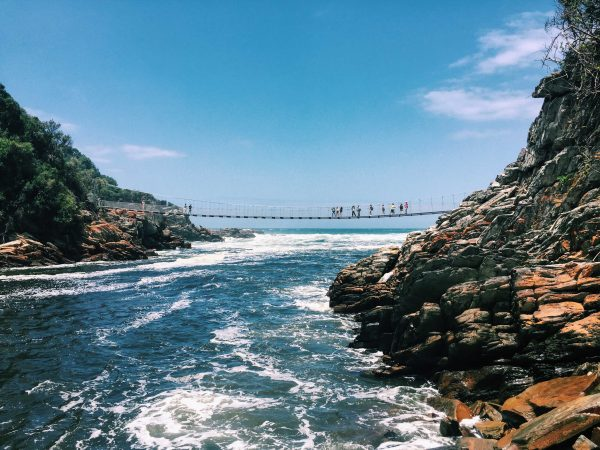 Stormsriver is famed for this suspension bridge, which stretches across the Stormsriver mouth. Photo by Emma Strumpman