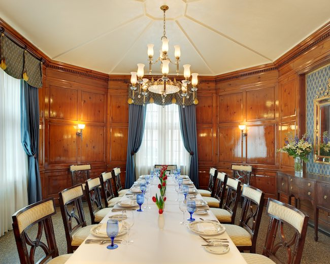 Virginia Room for private dining. Photo courtesy of Hotel Roanoke