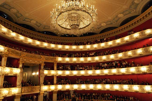 The gorgeous interior at the Bavarian State Opera in Munich. ©Wilfried Hösl