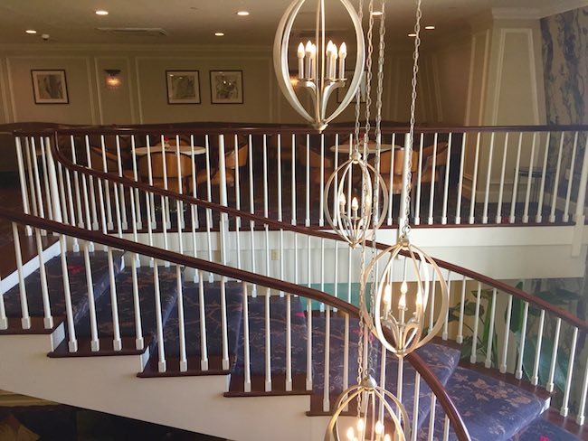 Stairway to club level lounge. Photo by Claudia Carbone