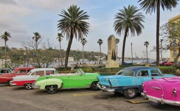 Havana, Cuba. Classic American cars line the streets of Old Havana. Photo by Christina Lyon
