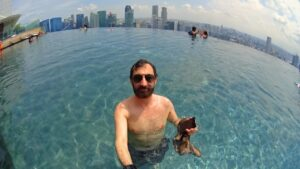 Swimming High Above Singapore at the Marina Bay Sands