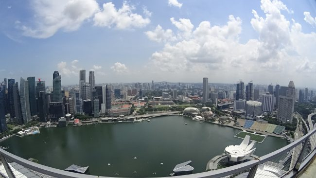 Marina Bay Sands pool view