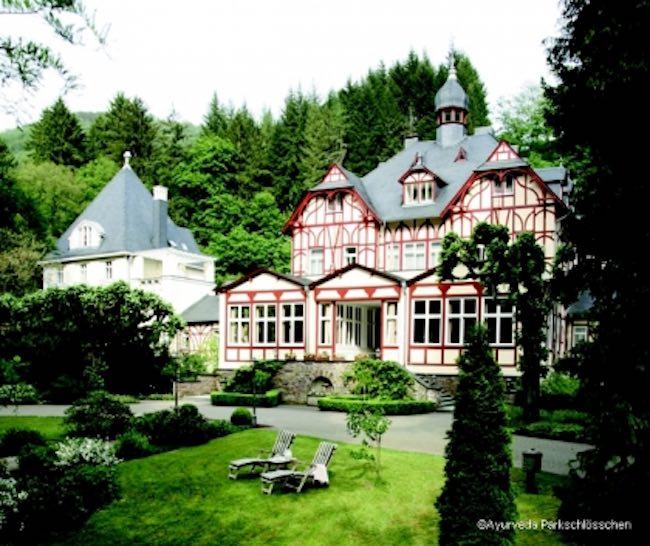 Ayurveda Parkschlösschen Traven-Trarbach, Rheinland-Pfalz. Photo courtesy of VeggieHotels/Parkschlösschen