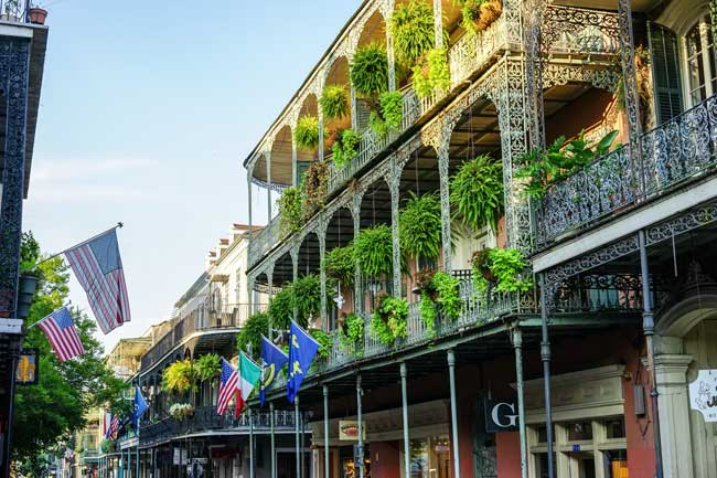 Travel in New Orleans, A View of the French Quarter