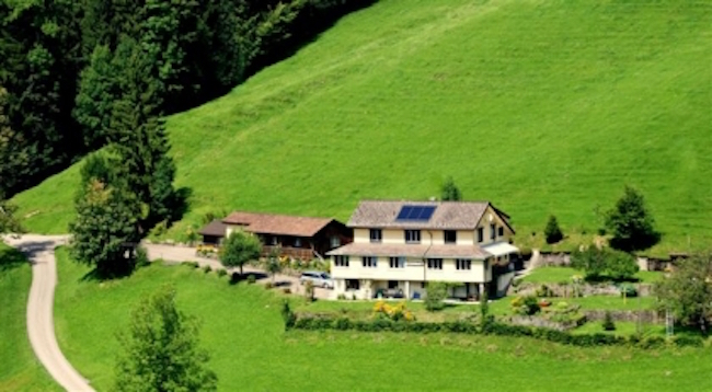 Sonnmatt Bergpension & Gesundheitszentrum, Ebnat-Kappel, Kanton St. Gallen, Switzerland. Photo courtesy of VeggieHotels/Sonnmatt
