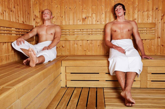 In Finland, business is often discussed in the sauna. Photo by Robert Kneschke