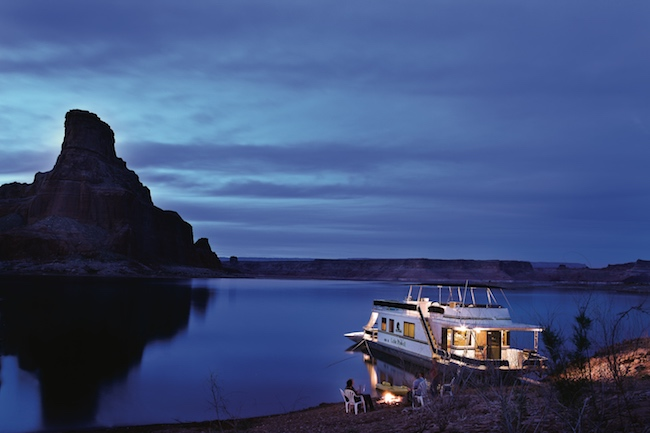 Lake Powell at night. Photo courtesy of Aramark Leisure