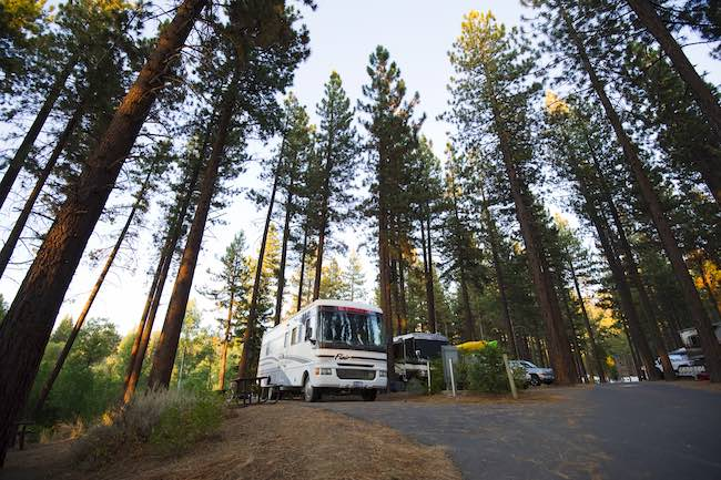 Zephyr Cove Rv & Campground. Photo courtesy of Aramark Leisure