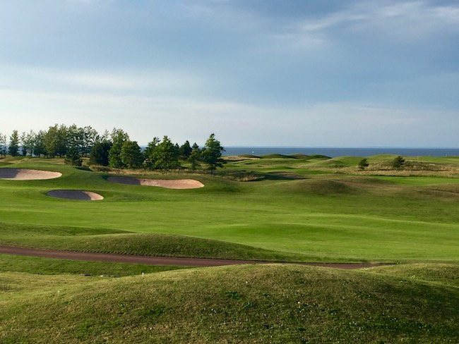 Graham Cooke-designed championship course along the water's edge. Photo by Claudia Carbone