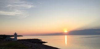 Amazing sunset off shoreline at Fox Harb'r. Photo by Claudia Carbone