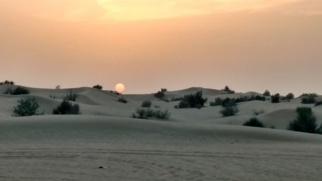 Dubai. Sunset in the desert. Photo by Eric D. Goodman