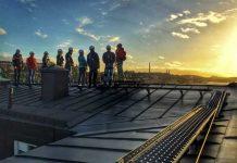 Rooftop tours in Stockholm of Stockholm. Photo Takvandring Sverige AB
