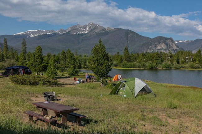 Peak One Campground on Lake Dillon, Frisco, Colorado. Photo courtesy of Todd Powell