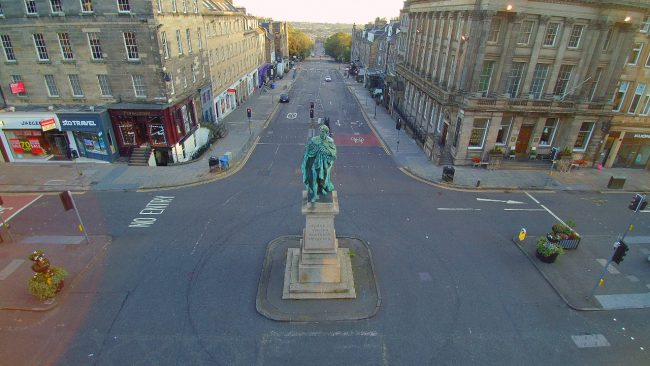 George IV statue in Edinbrugh