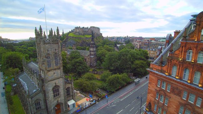 Edinburgh drone view