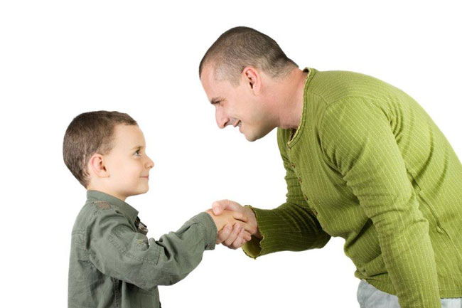 Customs around the world - In Germany, it's considered polite to shake hands with everyone who is there, including children.