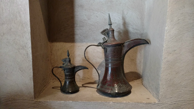 Dubai Traditional coffee pots. Photo by Eric D. Goodman