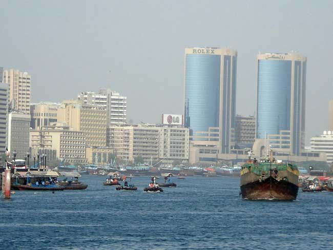 Travel in Dubai - A view of Bur Dubai. Flickr/landhere