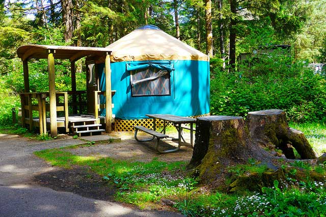 One of the yurts at Beverly State Beach Parks. They also have accessible yurts available. Photo by Flickr/Rick Obst