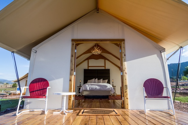 Glamping Tents Lure Outdoor Adventurers Near Canon City, Colorado
