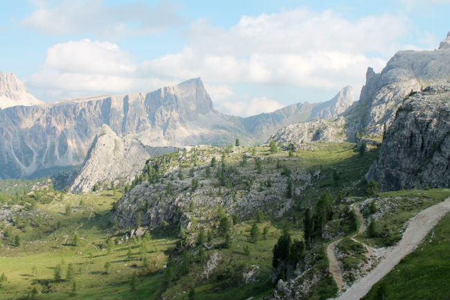 Travel Italy - This spectacular view of the Dolomites from right outside looked like a set from Lord of the Rings. Photo by Vivienne Tam
