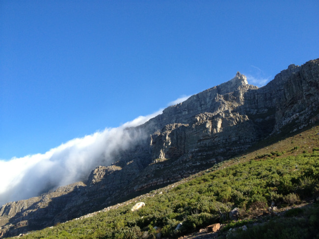 Tablecloth over Table Mountain South Africa .The tablecloth over the mountain. Photo by Sarah Ramnath