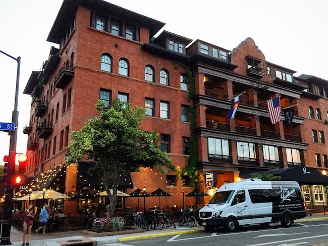 Hotel Boulderado, downtown Boulder's centerpiece. Photo courtesy of Hotel Boulderado