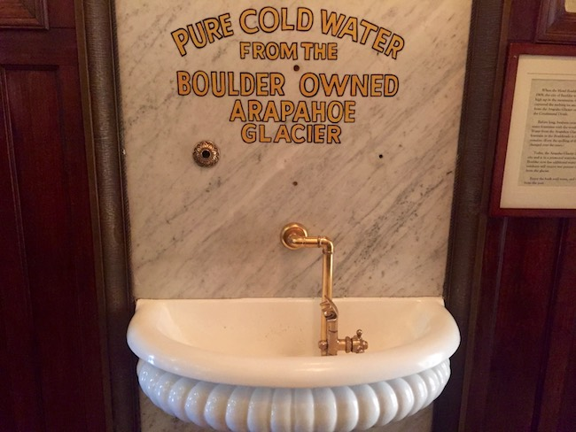 Original drinking water fountain. Photo by Claudia Carbone