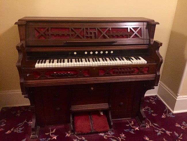 Antique player piano. Photo by Claudia Carbone
