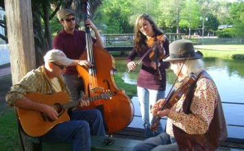 Cajun musicians perform an impromptu concert. Photo by Janna Graber