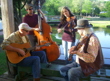 Cajun musicians perform an impromptu concert. Photo by Janna Graber
